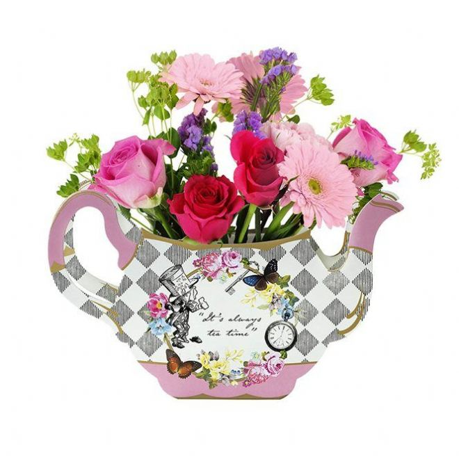 Alice in Wonderland Teapot Vase - Table Decoration